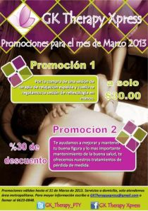 Flyer - Promo Marzo 2013