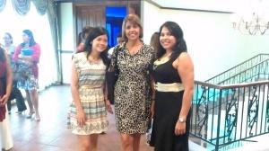 izq. a der. -- Lic. Karen Ng, Lic. Xenia Peña, Lic. Giselle Garrido