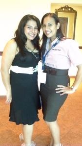 Lic. Giselle Garrido y Lic. Betzy Jaén (Grupo Infinity Medical)